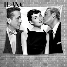 IBANO Roman Holiday Hepburn Wall Tapestry Home Art Hanging Thicker Decoration for Bedroom Dorm Yoga Mat Tablecloth