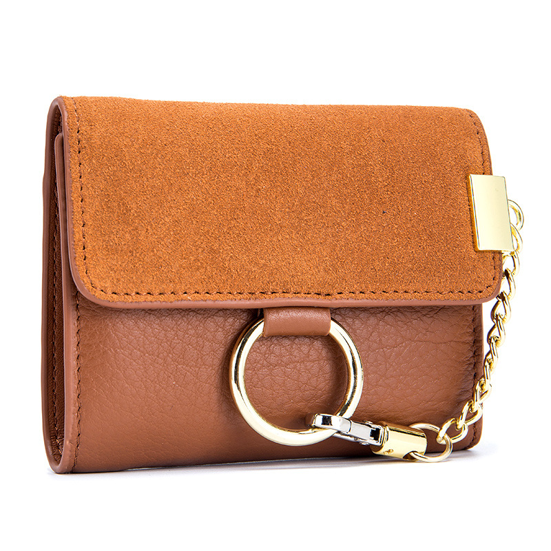 New Fashion Women Wallets and Purse Female Genuine Leather Mini Fresh Folding Coin Pocket Portefeuille Femme Lady Purses simline fashion genuine leather real cowhide women lady short slim wallet wallets purse card holder zipper coin pocket ladies