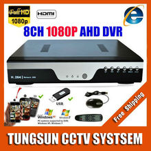 Super 8CH AHD DVR AHD-H HD 1080P Video Recorder H.264 CCTV Camera Onvif Network 8 Channel IP NVR Multilanguage With Alarm