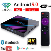 Latest H96 MAX Android 9.0 Smart TV BOX 4GB+64GB Bluetooth 4K Quad Core WiFi Netflix Youtube Google Play Home Audio Media