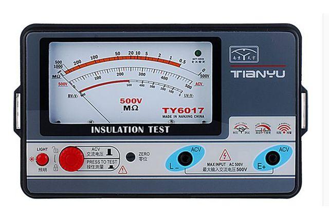 Resistivity Meter Analog : Ty v insulation resistance meter analog
