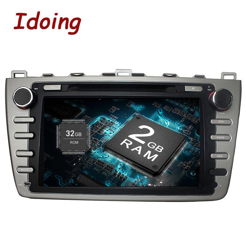 Idoing 2Din 8Car DVD Multimedia Player 2G+32G Android 8.0 Fit Mazda 6 Ruiyi/Ultra GPS Navigation Steering-Wheel Touch Screen