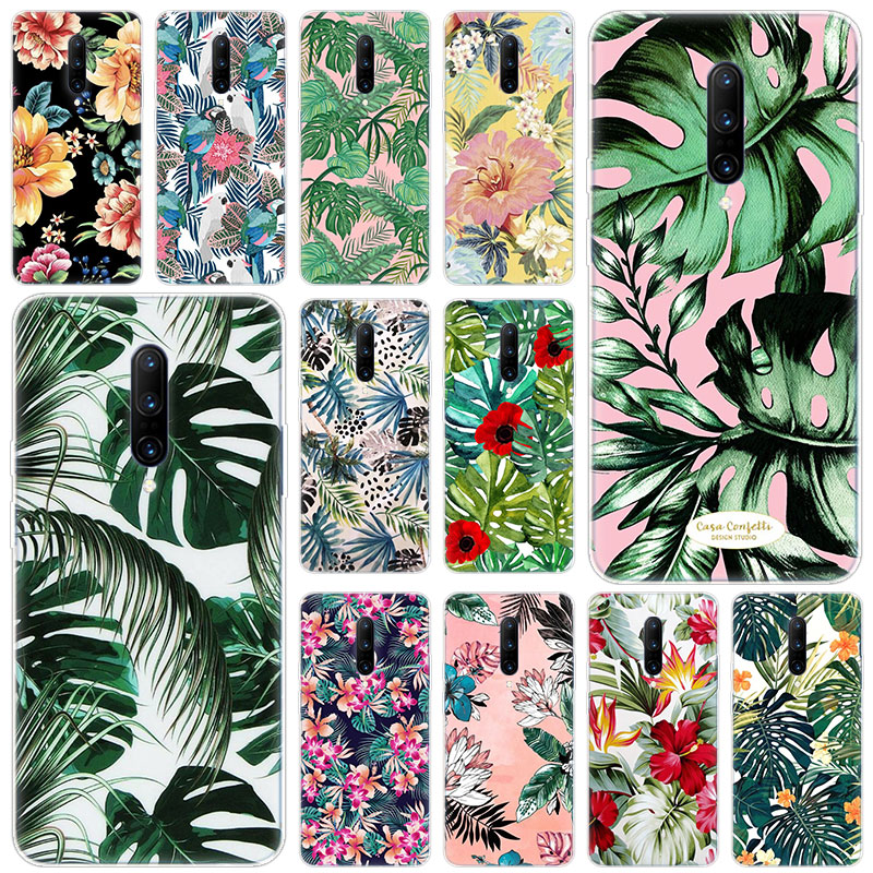 Hot Floral Plantas Leaves Soft Silicone Fashion Transparent Case For font b OnePlus b font font