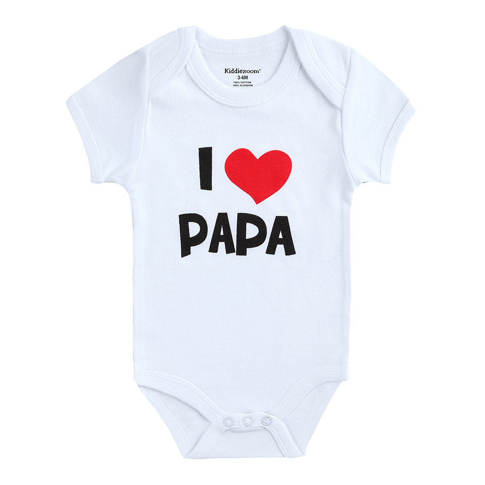corazn impresin amo papa nuevo diseo de ropa para bebs de algodn suave gemelos buzos slidos