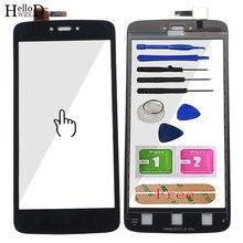 """5.0 """"Mobil dokunmatik ekran paneli Için Motorola Moto C XT1750 XT1755 XT1754 dokunmatik ekran digitizer Ön Cam Panel Sensörü Araçları"""