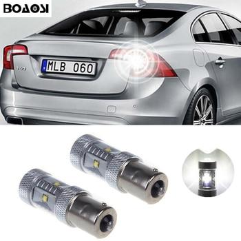 2x1156 Canbus Livre de Erros LED Reverter Luzes P21W 30 W Carro LEVOU de Volta Up Rear Lâmpada Para volvo xc90 xc60 v60 v70 s80 s40 v50 c30