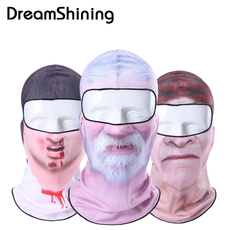 Hot Sale 2016 3D Cap Clown Bicycle Cycling Motorcycle Masks Ski Hood Hat Veil Balaclava UV Full Face Mask