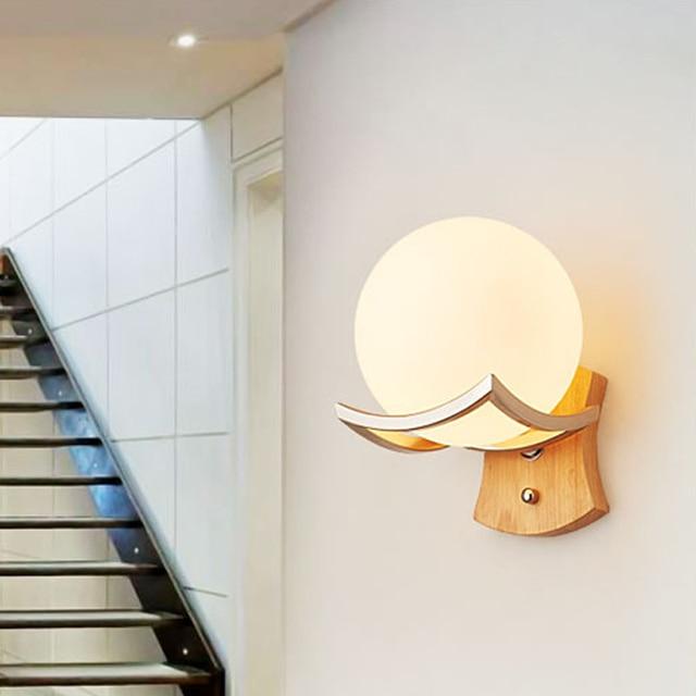 Nuovo design, Moderna Lampada Da Parete in legno Luci Per Camera Da ...