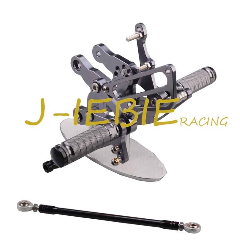 CNC Racing Rearset Adjustable Rear Sets Foot pegs Fit For  Honda CBR893RR CBR919RR 1994-1999 CBR400 NC29 TITAINUM