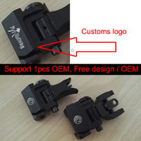 Magaipu OEM Custom Logo Tactical Metal Iron Troy Front Rear Folding Up Battle Sight Airsoft Hunting