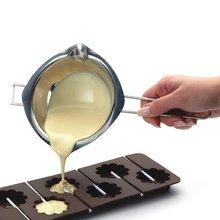 Neue Backenwerkzeuge Edelstahl Schokolade Melting Schüssel Fondant Paste Gießen Topf Zucker Butter Heizung Wasserkocher Mit 2 Ausgießer