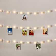 10M 5M 3M 2M 1M Photo Clip LED String Lights Fairy Garland USB / Battery Operated For Christmas Party Wedding Xmas Decoration