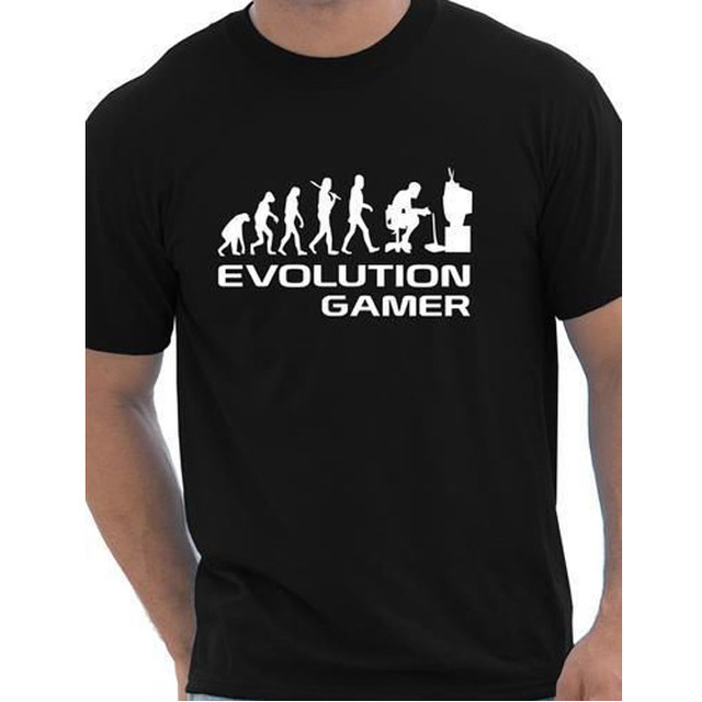 Evolution Of A Gamer PC Geek Gift Funny Mens T Shirt More Size and Colors cotton european size