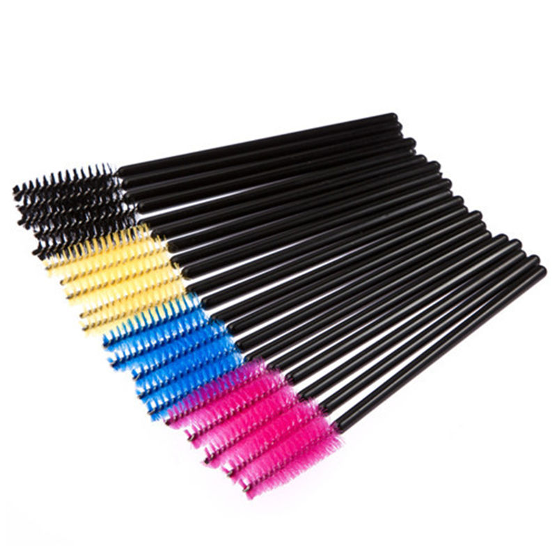 50pcs lot cosmetic eyelash extension disposable mascara for Disposable mascara wands