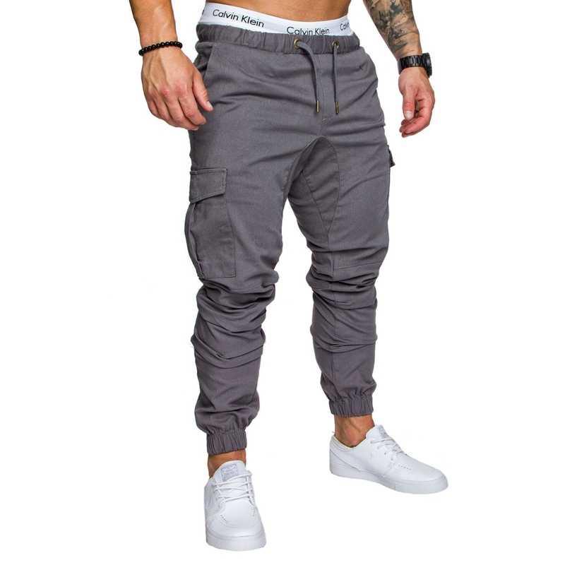 b7e8ef14d Fashion Men's Man Boys Casual Jogger Cargo Pants Nice Side Pockets Ankle  tie Long Pants Slim