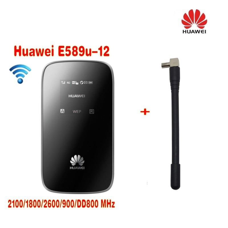 Huawei E589u-12 Unlocked 100Mbps 4G LTE 4 Pocket WiFi Hotspot Wireless Modem zte mf910 mf910v 4g lte mobile wifi wireless pocket hotspot router modem unlocked
