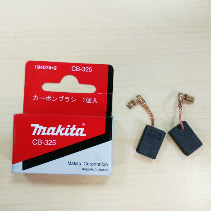 1 Pair Original Makita Carbon Brushes Auto-Cut For Electric Motors CB325 194074-2 9554NB 9557NB 9558 Grinder 16x11x5mm