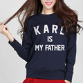 Karl is my father Harajuku Women Sweatshirt Jumper Letters For Lady 2016 Autumn Winter Warm Hipster Streetwear Hoodies Tracksuit