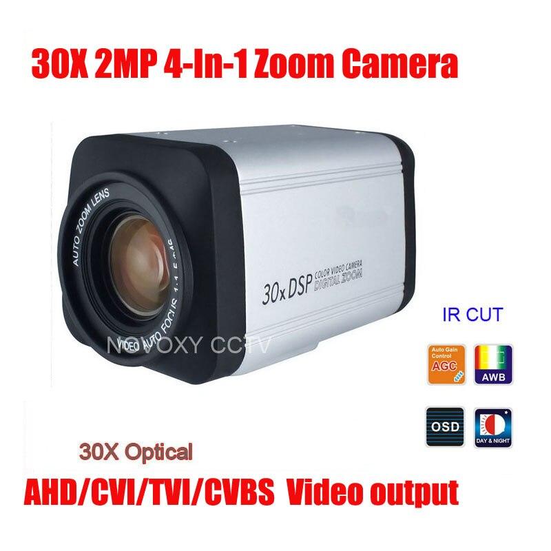 Бесплатная доставка SONY IMX323 2MP 1080 P AHD CVI TVI CVBS 4 в 1 30x Оптический зум Камера безопасности Камера