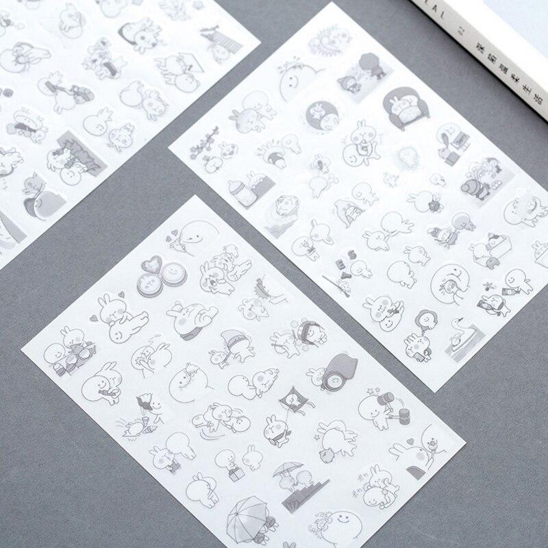 diário planejador de papel auto-adesivo scrapbooking decoração papelaria atacado