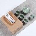 Высококачественный чайный набор Ge Kungfu  китайский чайный набор  чайная чашка Kung Fu  чайный горшок для путешествий  китайский фарфоровый чайны...