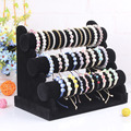 Cheap Shipping Brand new and high quality 3-Tier Black color Velvet Watch Bangle Bracelet Jewelry Display Holder Stand Rack