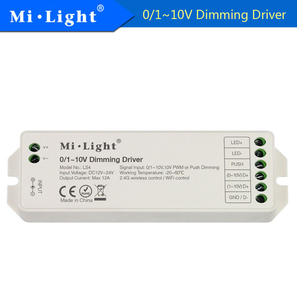 Milight Ls4 0 1 10v Dimming Driver Pwm Or Push Max 12a Led Bulb Circuit Diagram 4wled Dc12 24v Controller Free Shipping In Dimmers From Lights Lighting On