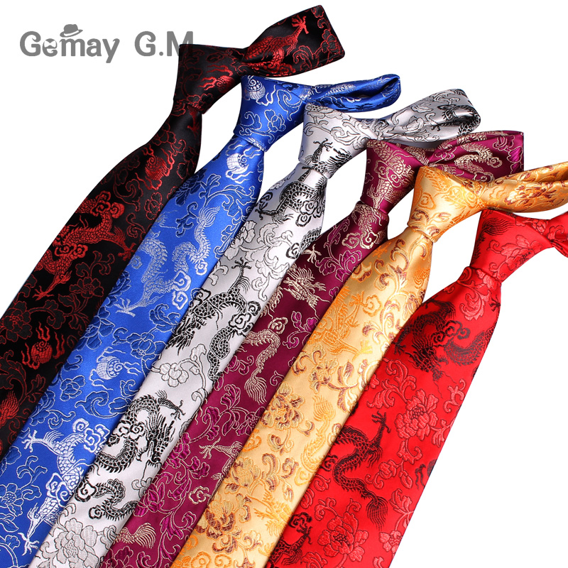 New Silk Ties Chinese Style Neckties For Men Jacquard Woven Mens Tie Business Party Suits Neck Tie Gravata 9cm Width Corbatas