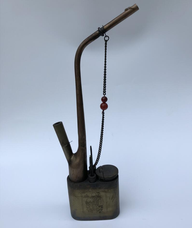 Antique vintage water pipe cigarette holder hookah metal cigarette holder filter hookah tobacco rod home decoration