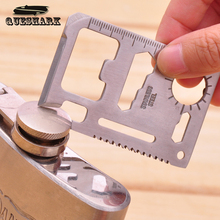11 in 1 Multi Tools Outdoor Hunting Survival Camping Pocket Military Credit Card Knife Tool Kits Lifesaving Card Saber Cards