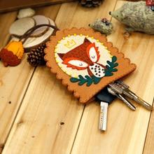 DIY Felt Toy Fox Key bag Cartoon Lovely chain Pendant Handmade Kit felt animals Craft Sets Ornament Covers