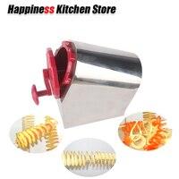 Multi functional stainless steel twist Tornado potato machine, spiral potato slicers Carrot Cutter Kitchen Vegetable Tools