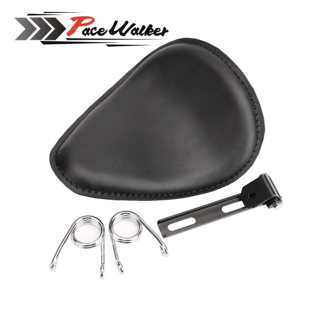 "Motorcycle 3"" Solo Spring Driver Seat Pad Saddle+Mount Bracket For Sportster 883 Bobber Chopper"