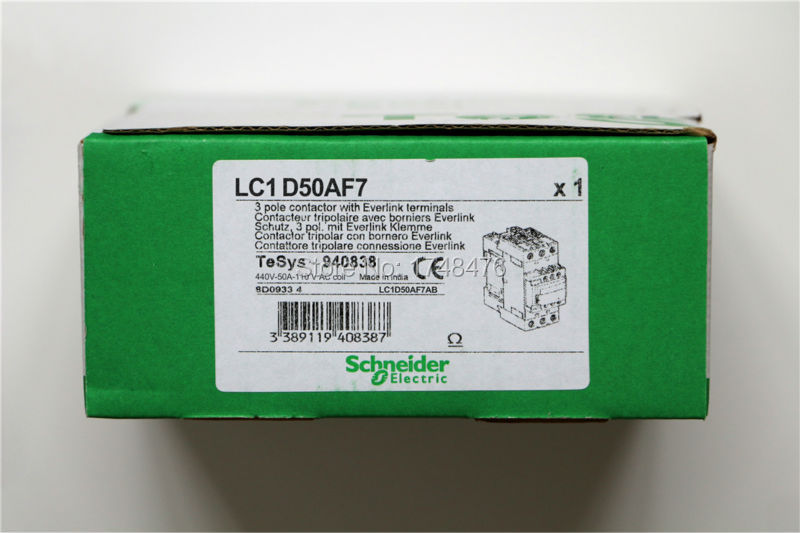 Замыкатель TeSys 3 50 LC1D50A LC1D50Af7