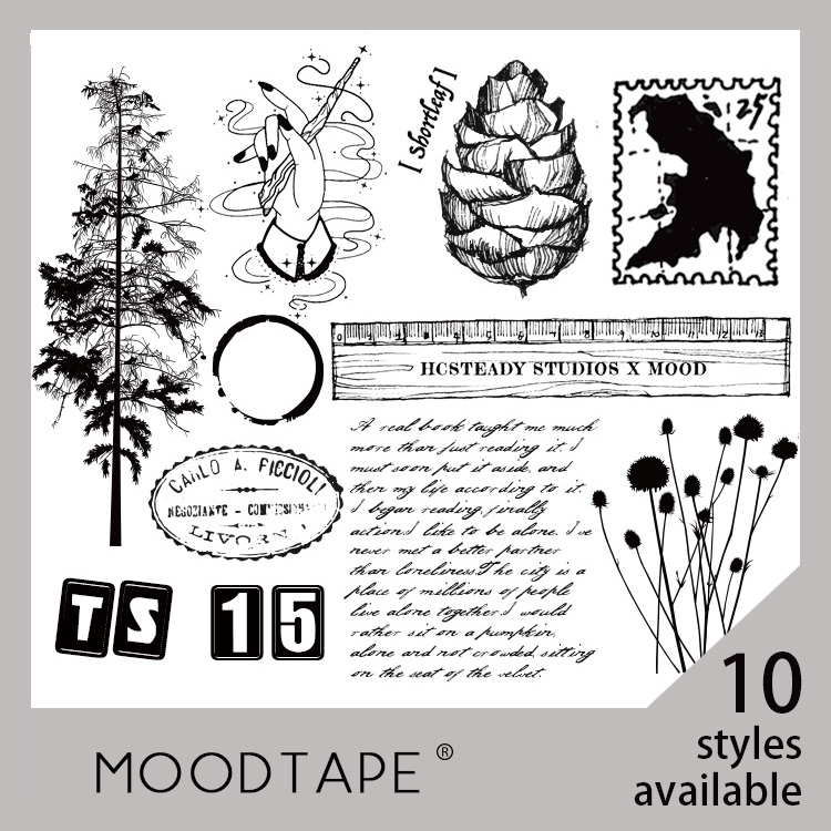 Moodtape Vintage Clear Stamp For DIY Scrapbooking/photo Album Decorative Transparent Stamp Tree Coffee Stains Rubber Stamp Seal