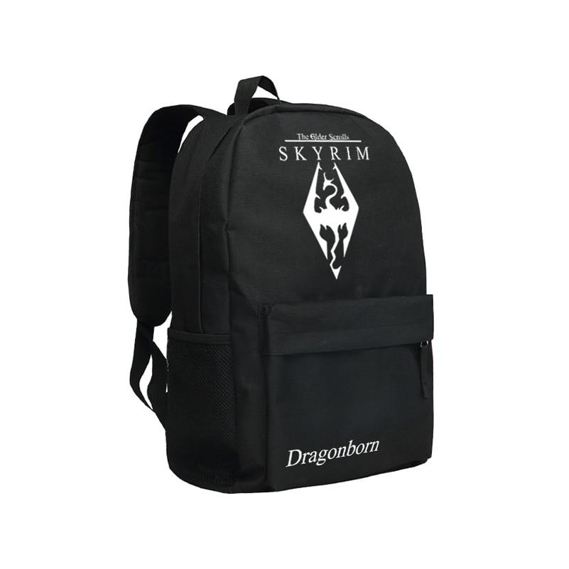 The Elder Scrolls V Skyrim Backpack NagaiKei IBM Men's Backpack Bag TES Bookbag for Boys School Bag tes 5 skyrim русская версия xbox 360