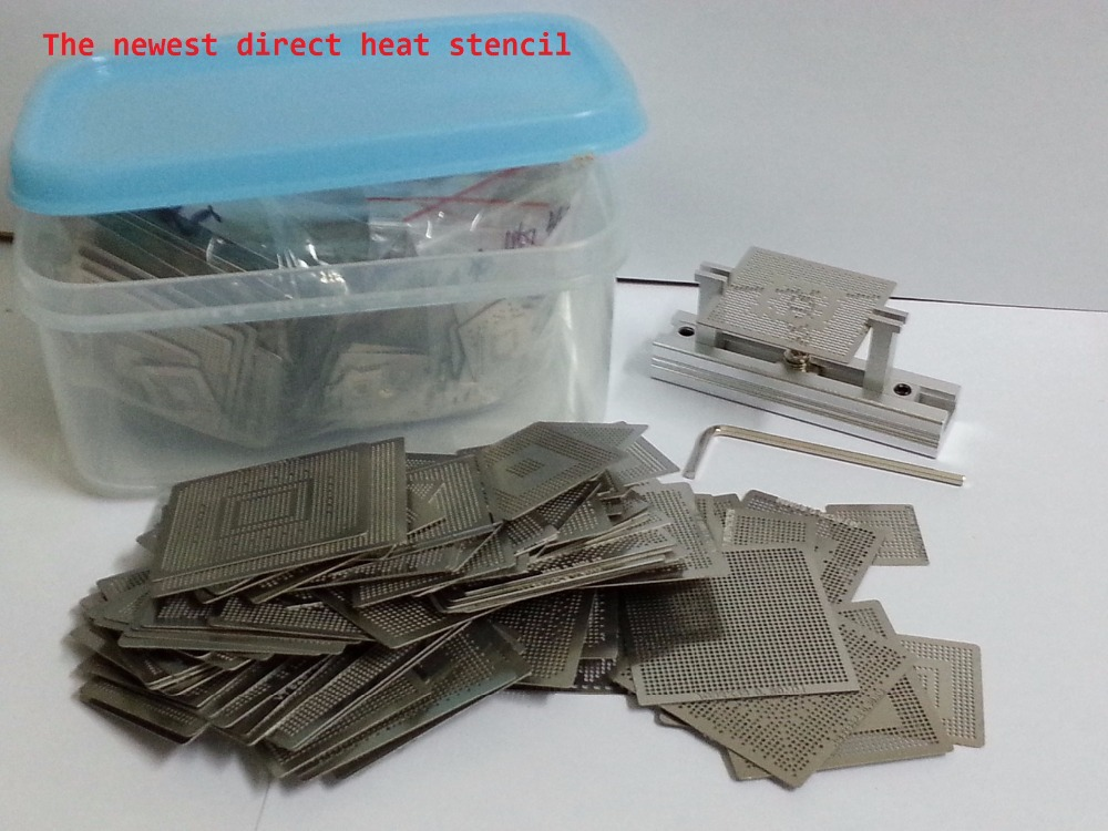 ФОТО 2015 The newest 648pcs/set Bga Stencil Reballing Stencils Kit with direct heating Reballing station for bga reworking station