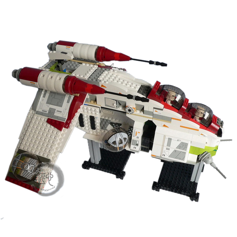 New Star Wars The Republic Gunship fit legoings 75021 star wars figures model Building Blocks Bricks fit diy bricks toy kid gift new bela 10377 star wars wookiee gunship model building blocks sets wullffwarro kanan bricks