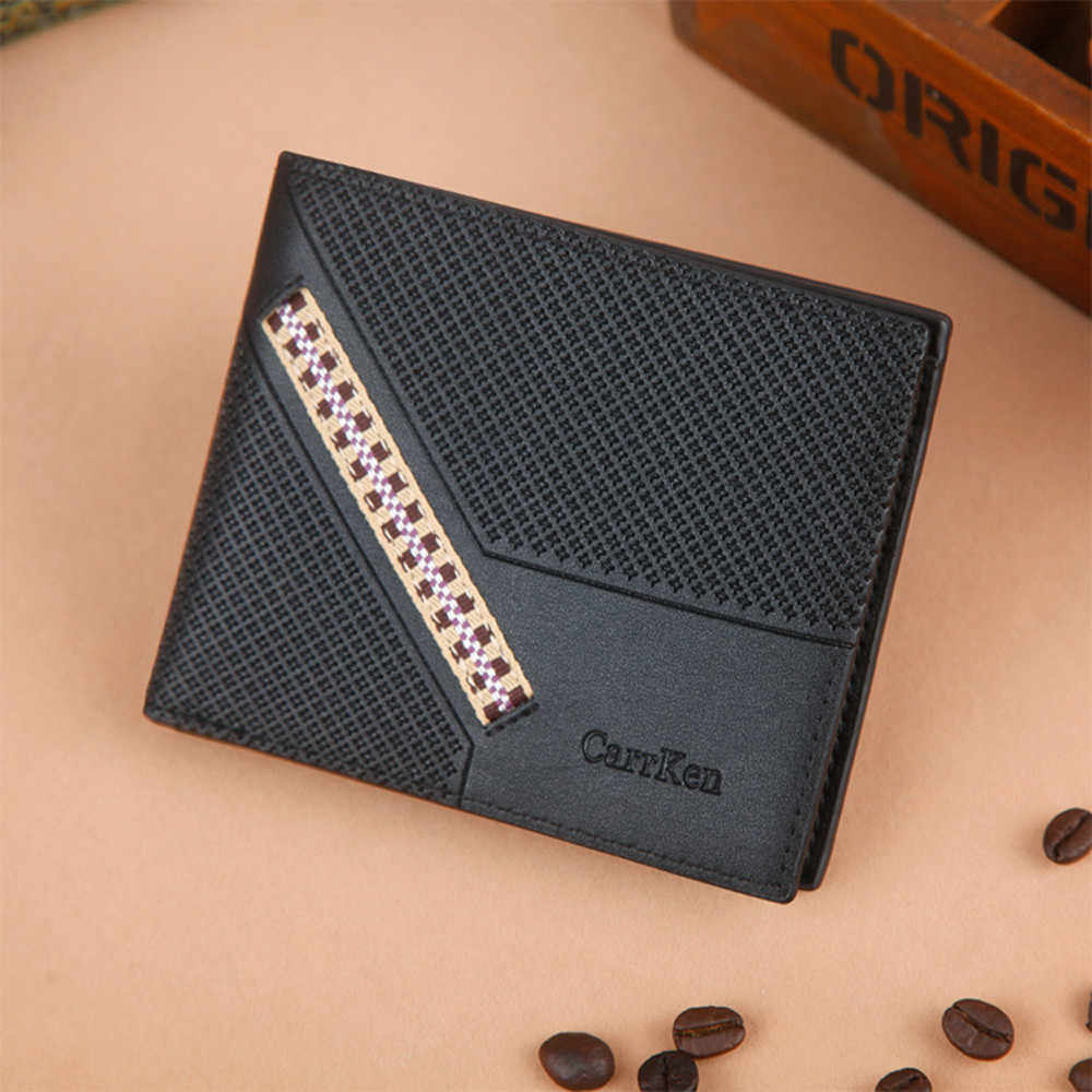 Short Wallets Luxury Purses Men Bifold Open Multi Card Position Wallet Clutch Business Card Holder rfid wallets carteira#L5$