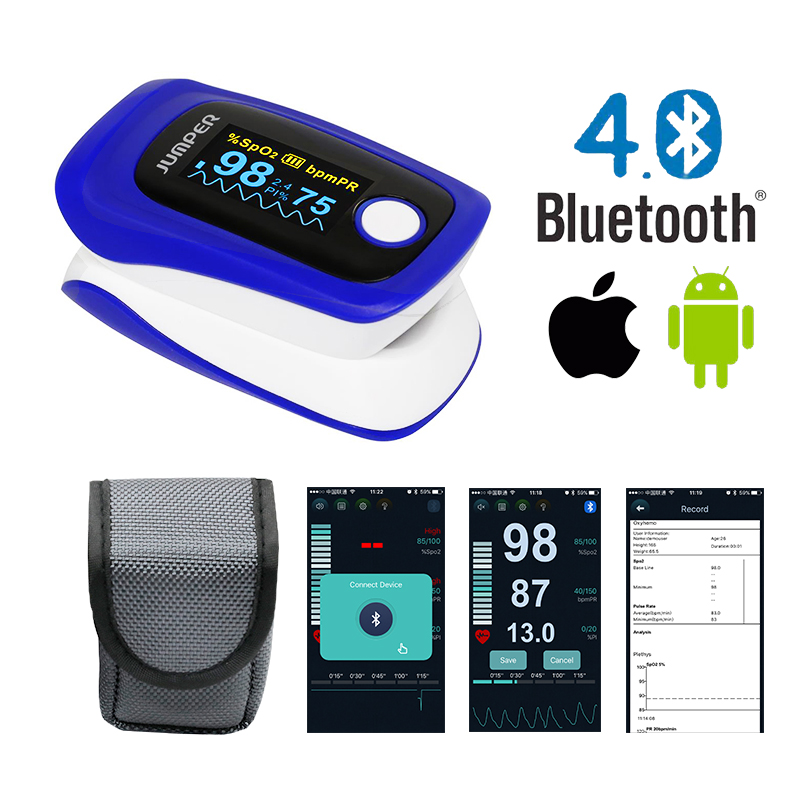 Fingertip Pulse Oximeter Jumper JPD-500F Wireless Bluetooth
