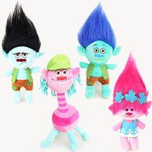 1Pcs/Set 2016 DREAMWORKS Movie Trolls Poppy DJ Suki Guy Diamond Cooper Branch Critter Skitter Boards 6cm plush Figures Toys