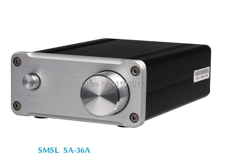 SMSL SA-36A Pro D digital Amplifier HIFI EXQUIS TDA7492PE chip Amps Silver version with power supply цена