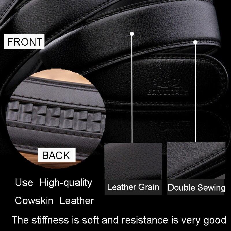 Cinturones de cuero de cuero genuino de los hombres del nuevo - Accesorios para la ropa - foto 5