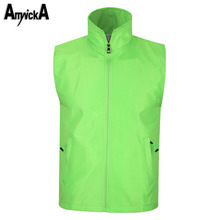 Fishing Vest Men Waterproof Windproof Running Camping Climbing Hiking Outdoor Sport Vest Male Plus Size Windbreaker A89
