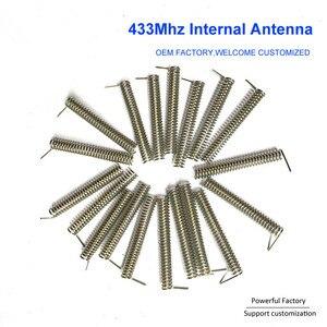 Image 5 - Bronze phosphoreux personnalisé/nickelé 2dbi ressort de carte PCB interne 433Mhz antenne de bobine 100 pièces/lot