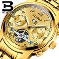 2018 новые мужские часы BINGER люксовый бренд Tourbillon сапфировый, светящийся несколько функций механические наручные часы B8601-12