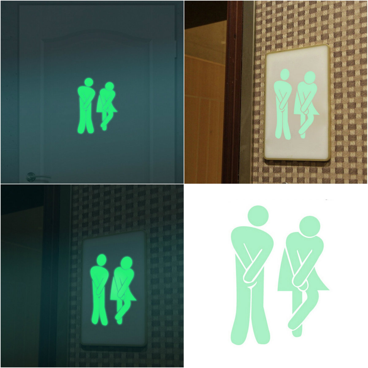 Hot Sell Funny Luminous Glow In The Dark Wallpaper Toilet Stickers Vinyl Wall Art Decals For Home Decor  DIY3D Good Quality