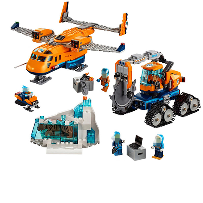 New Compatibility legopingly City Series 02112 the Arctic Supply Plane Set Model Building Blocks Bricks 60196 Toys Boy Gifts