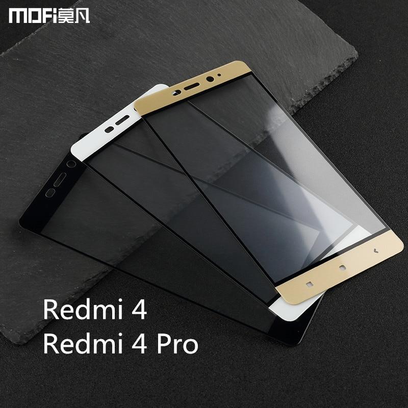 Xiaomi Redmi 4 pro glass xiaomi redmi 4 glass redmi 4 prime tempered glass MOFi original redmi 4 pro prime screen protector 5″