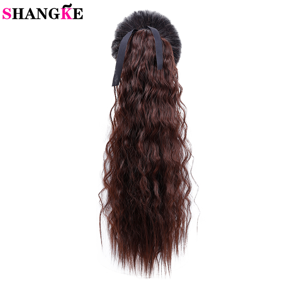 Shangke Hair 22 Long Kinky Curly Ponytail For Women Hair -3334